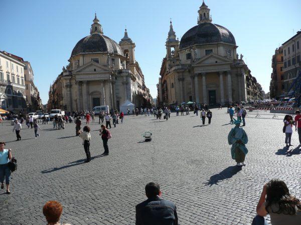 A view on Piazza del Popolo