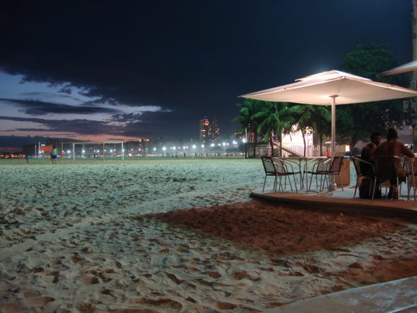 Beach soccer - Copacabana beach at night