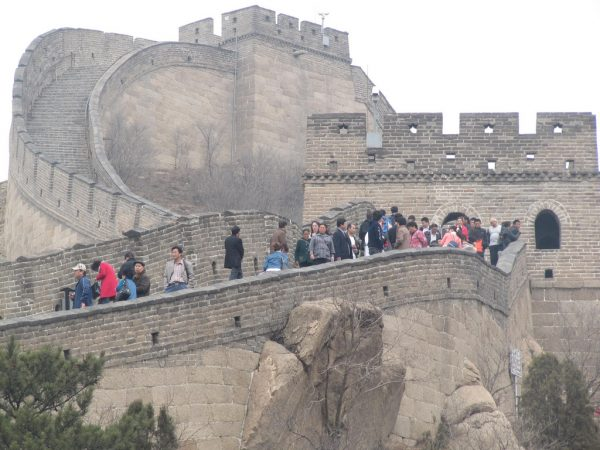 Crowds at Great Wall of China