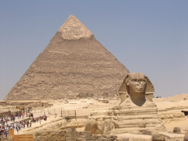Pyramid & Sphinx of Khafre/Chefren in Giza Egypt