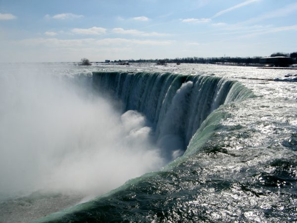 The edge of the Niagara Falls