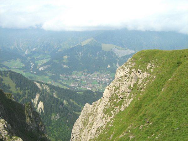 Vanaf de ZO-kant van het dal richting Adelboden