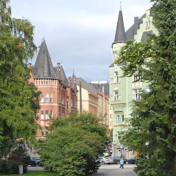 La rue Luotsikatu, quartier de Katajanokka (Helsinki)